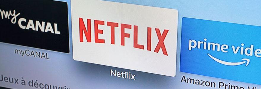 Image du logo netflix sur un écran